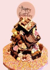 Pretty Pink Mega Brownie Stack Cake
