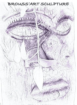 Carte de visite Brouss'art Sculpture (2)