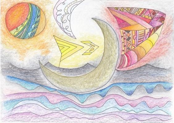 月夜の船出