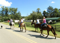 Trail ride in Love Valley
