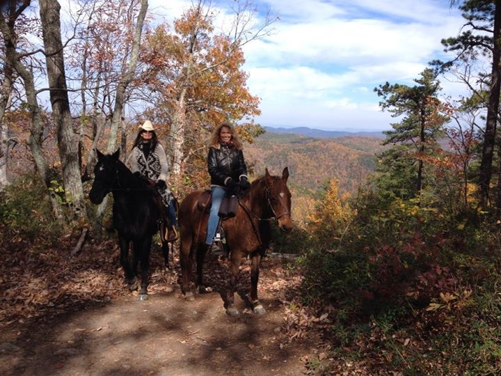 Enjoying the trail ride at South Mountain State Park on a gorgeous fall day