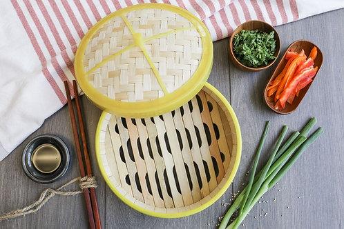 "Lee's Deli Dim Sum 8"" Bamboo Steamer Basket"