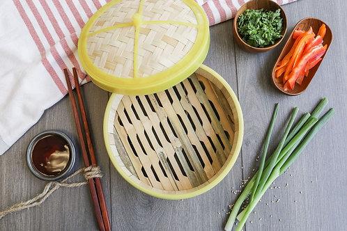 "Lee's Deli Dim Sum 6.5"" Bamboo Steamer Basket"