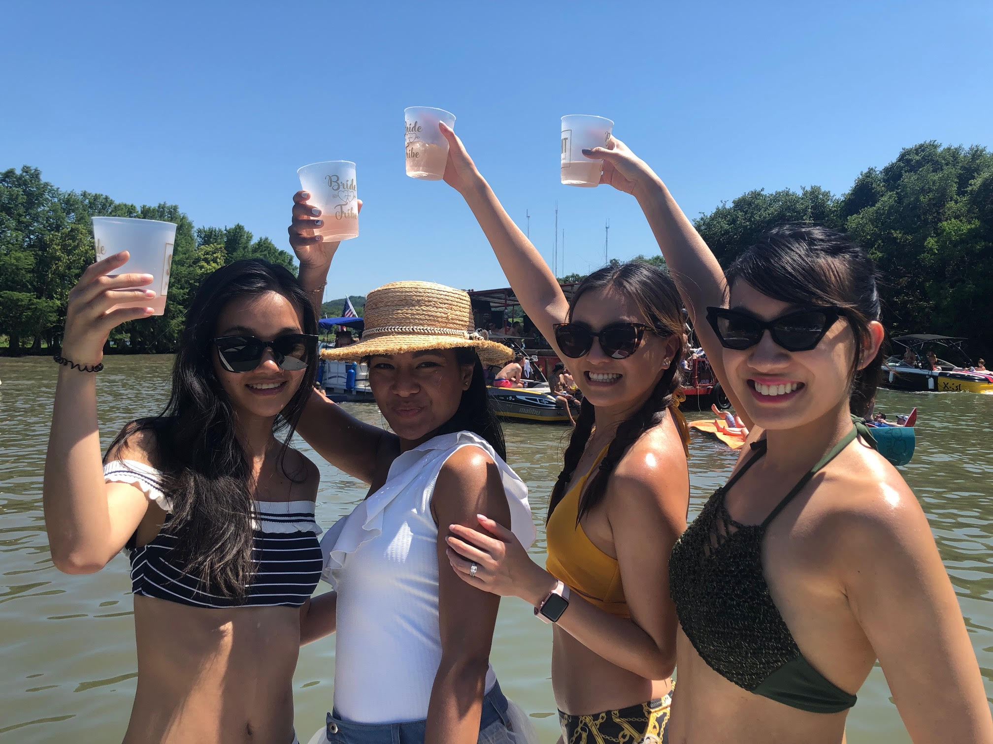 Lake Austin Bachelorette Party Cobalt