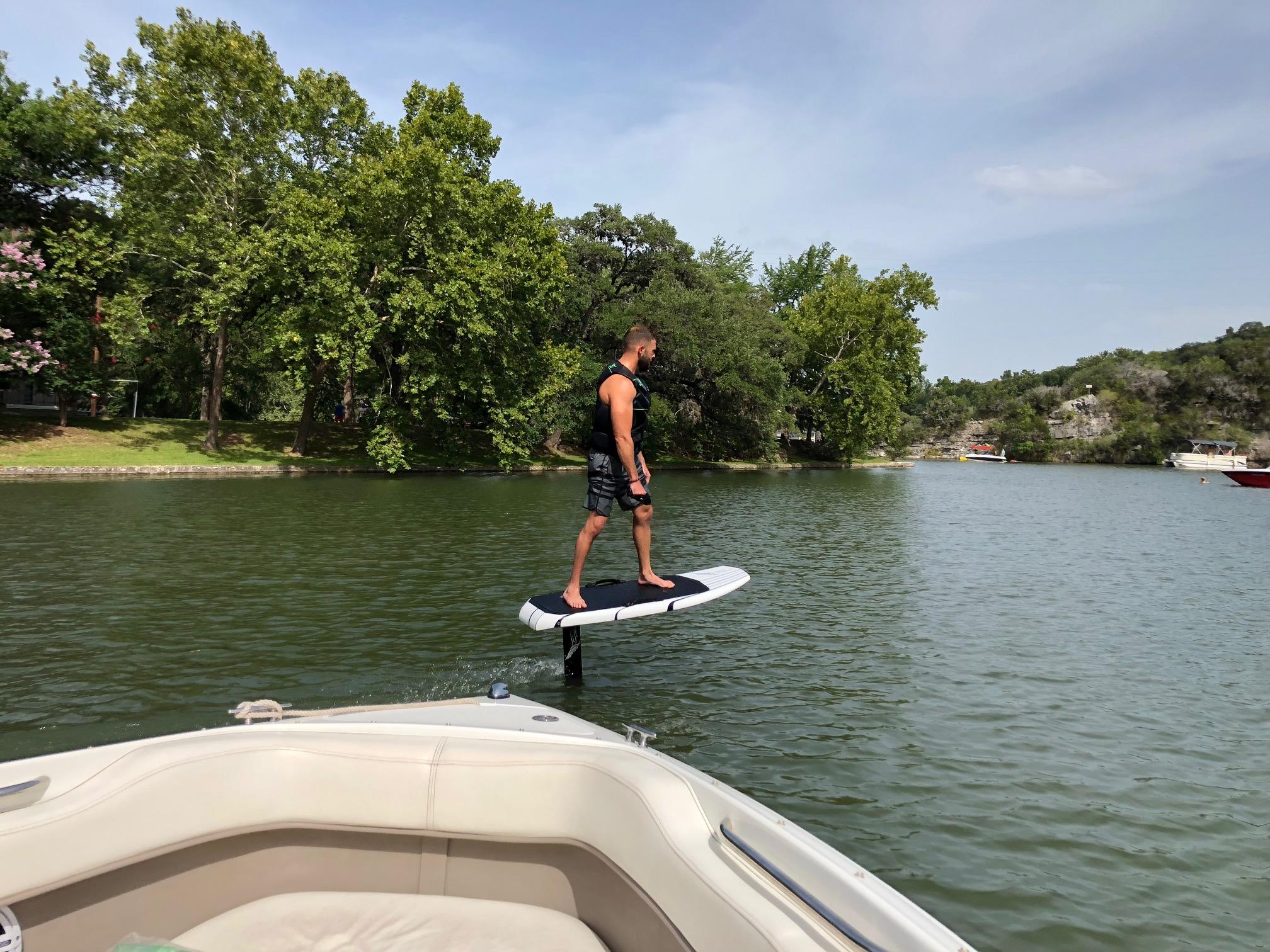 Boat Rental lake Austin hydrofoil