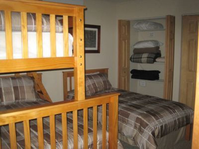 triple bunk bed & extra twin off rec room
