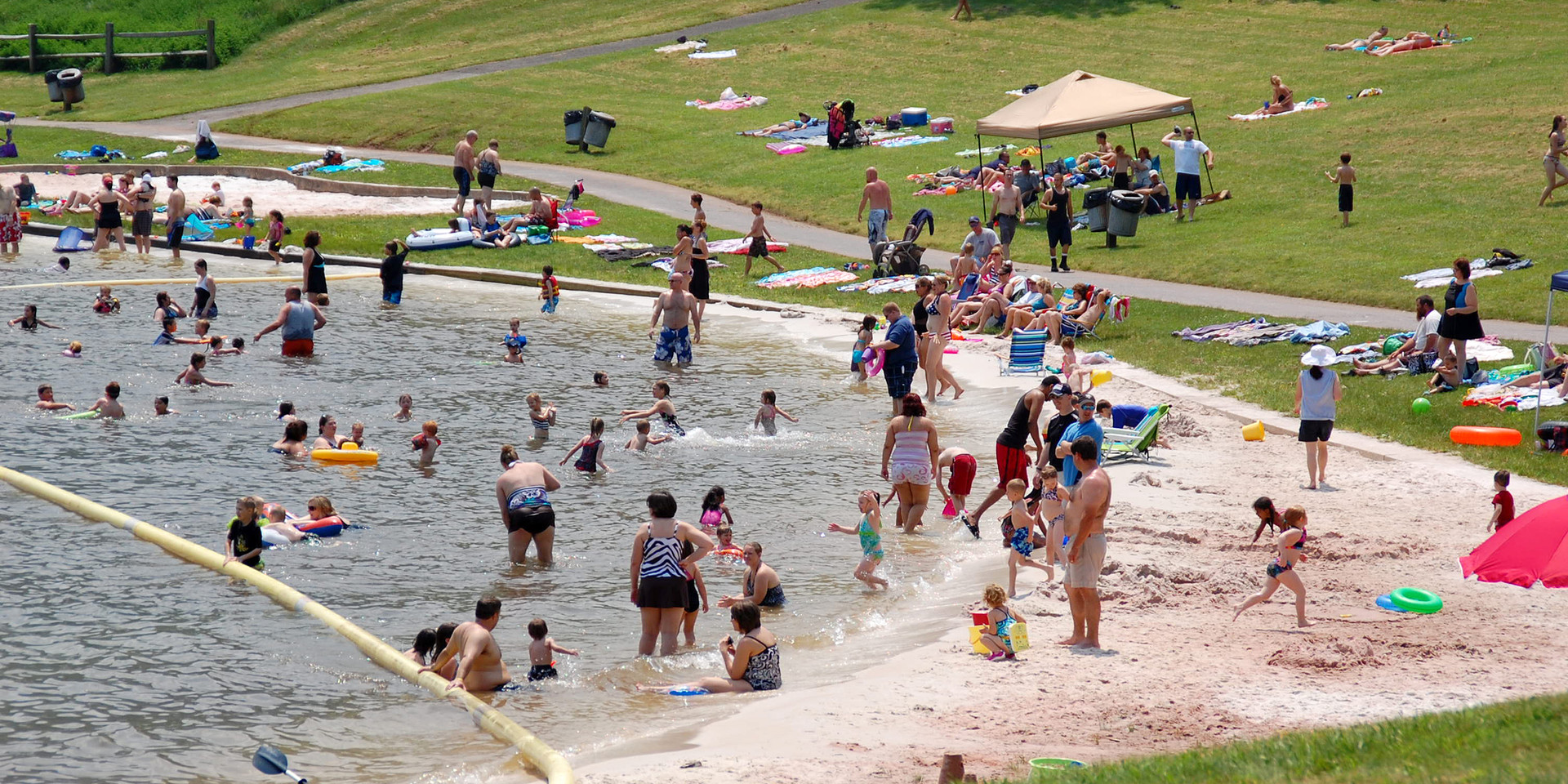 Seven Points Lake Beach