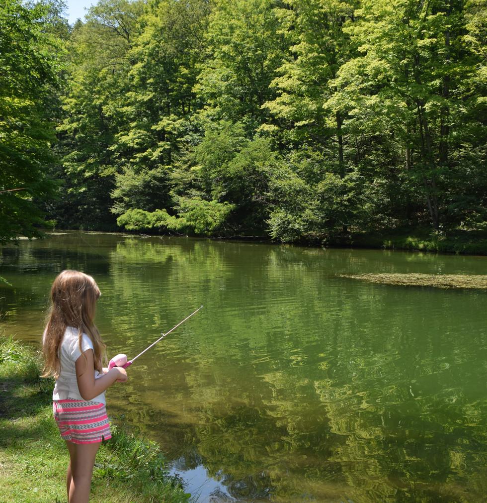 Shore fishing for kids