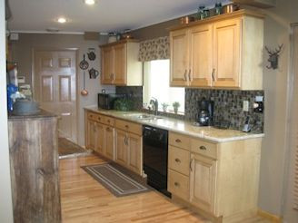 Maple cabinets w/granite tops