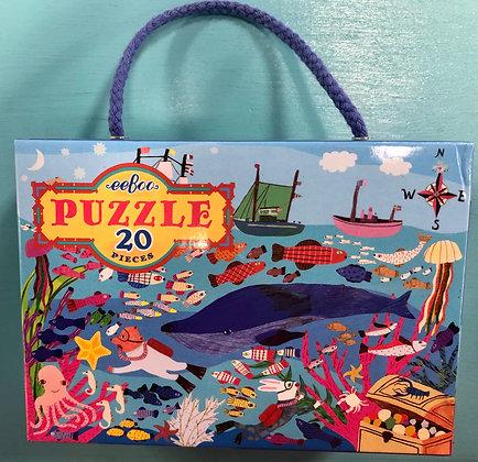 Sea Life - 20 Piece Puzzle by eeBoo