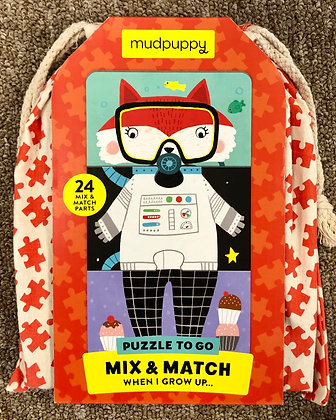 Mix & Match - When I Grow Up: Puzzle To Go - 24 Pieces by mudpuppy