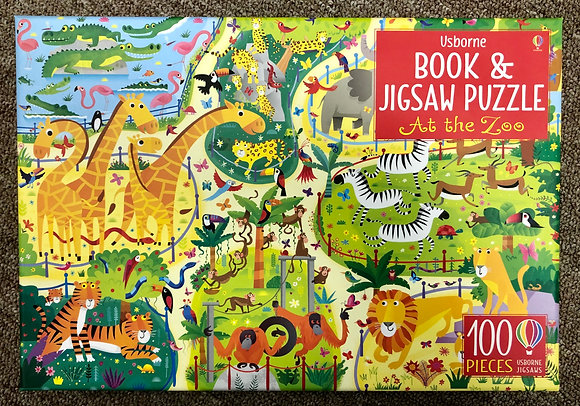 At The Zoo - Book & Jigsaw Puzzle (100 pieces)