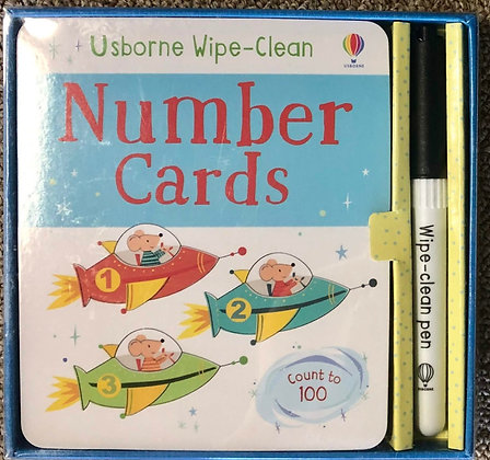 Usborne Wipe Clean Number & Alphabet Cards
