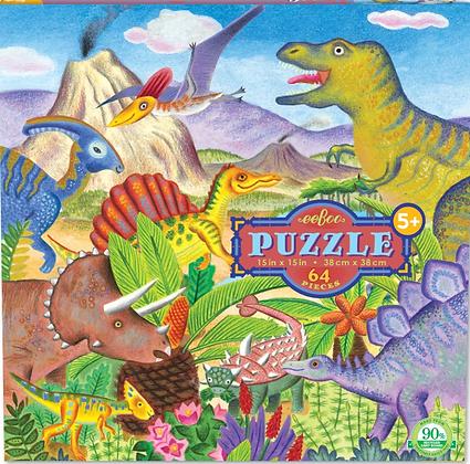 Dinosaur Island - 64 Piece Puzzle by eeBoo