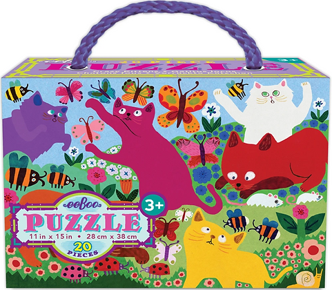 Crazy Kittens - 20 Piece Puzzle by eeBoo