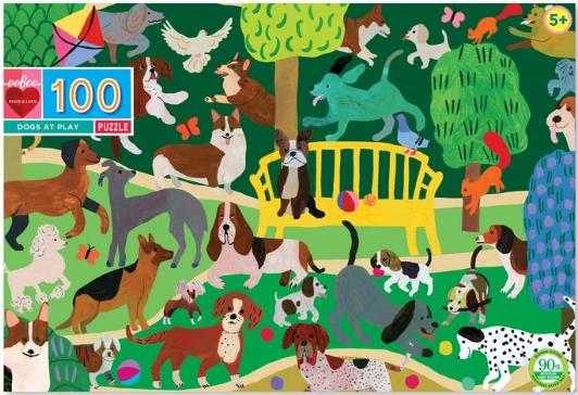 Dogs at Play - 100 Piece Puzzle by eeBoo