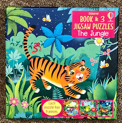 The Jungle - Book & 3 Jigsaw Puzzles (9 pieces each)