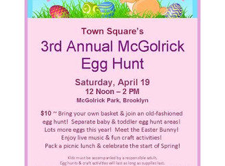 3rd Annual McGolrick Egg Hunt