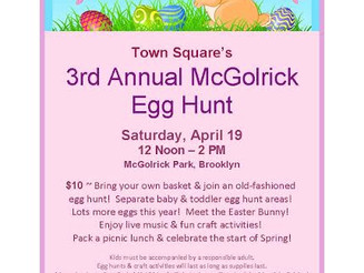 3rd Annual McGolrick Egg Hunt