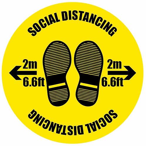 Floor Sticker - Social Distancing, 40cm