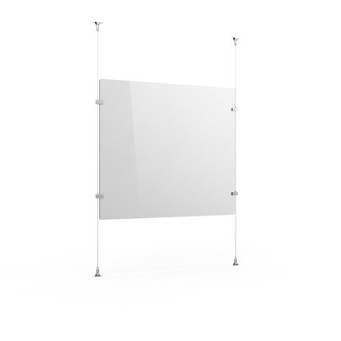 Safety Screen - Ceiling & Desk Fitting - 70 x 66.5cm