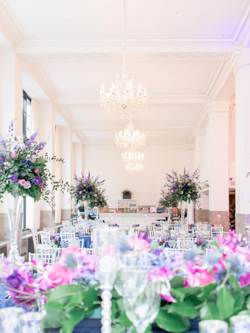 Ballroom at Providence G wedding in Rhod