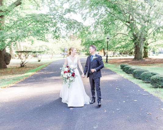 Bohlin wedding couple in Newport RI firs