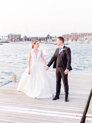 Bohlin wedding couple in Newport RI coup