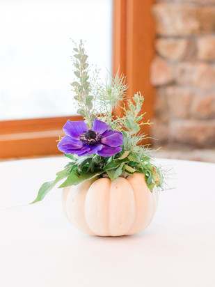 white pumpkin decor centerpiece october