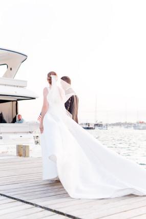 Bohlin Newport Fall seaside Wedding coup