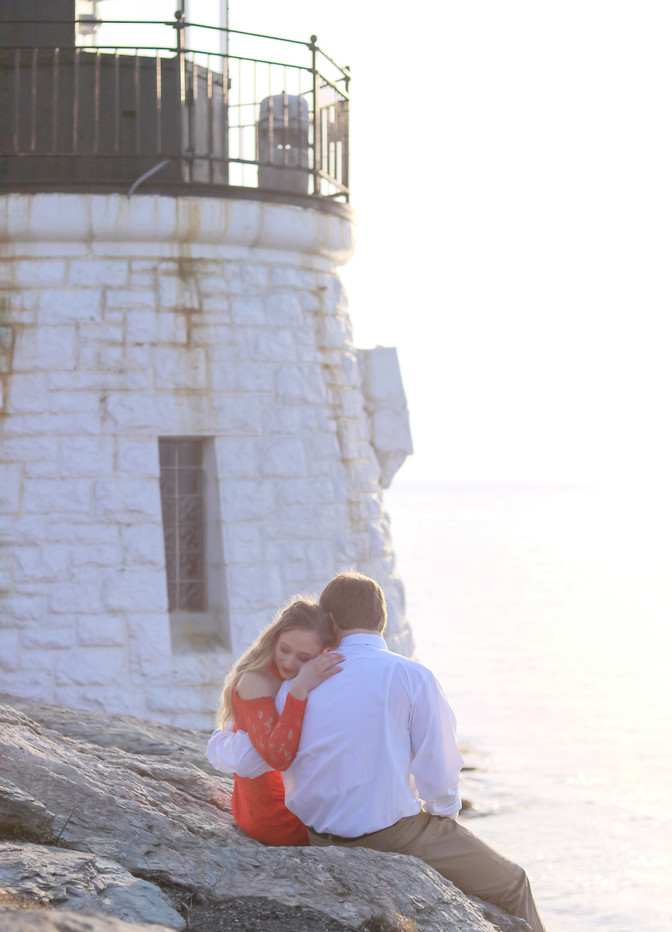 Castle Hill Lighthouse Engagement | Newport RI