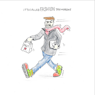 It's called fashion, middle age man fashion cartoon humour