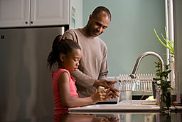 Thrive-Future-father-and-daughter-washin