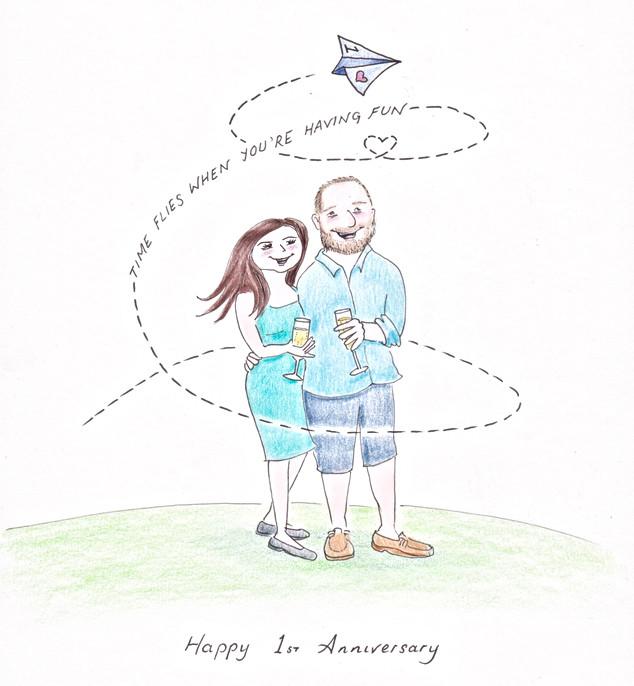 Time Flies First Wedding Anniversary.jpg