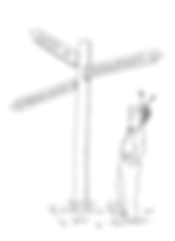 Business success cartoon signpost