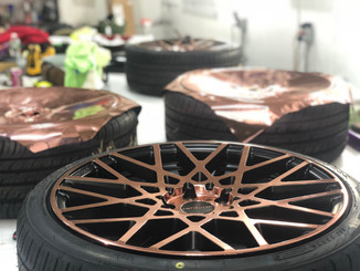 Rose Gold Wheel Wrap