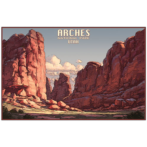 Arches National Park - Utah 11x17 woodblock