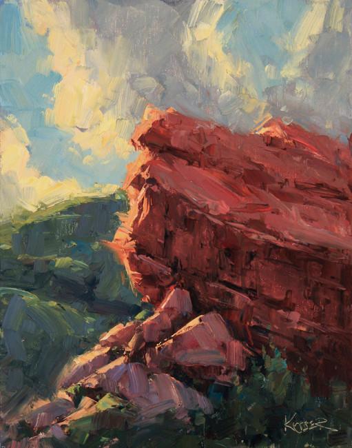 Red Rocks Study 2 14x11