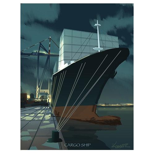 Cargo Ship - 8.5x11
