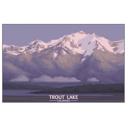 Trout Lake, Colorado - 11x17