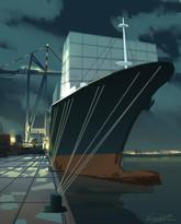 Cargo Ship Sketch