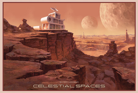 Celestial Space - 2 Moons