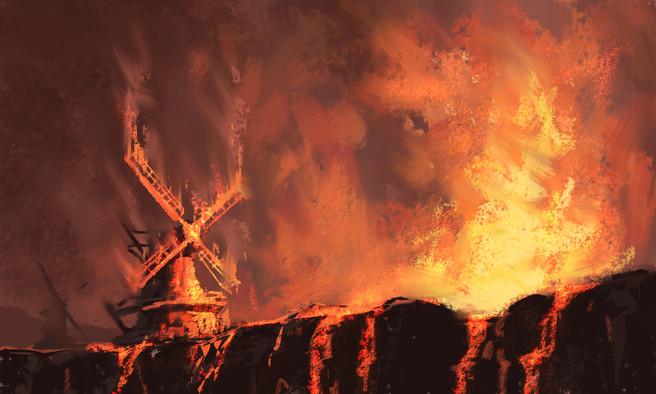 Lava & Windmills Sketch