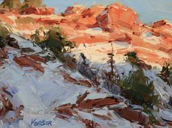 Desert Snow Study 6x8