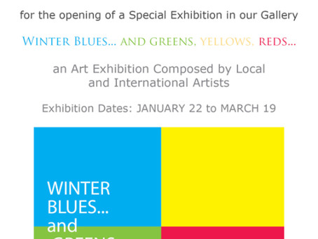 Winter Blues…and greens, yellows, reds…