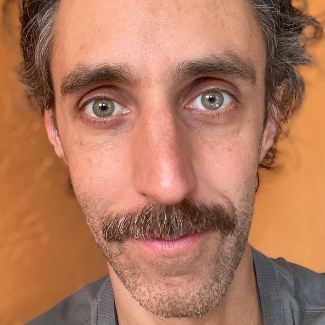 moustache look!