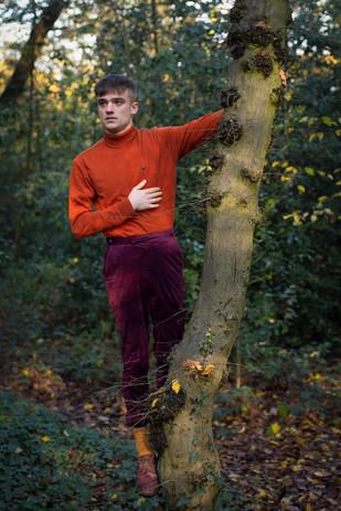 Adam in the woods