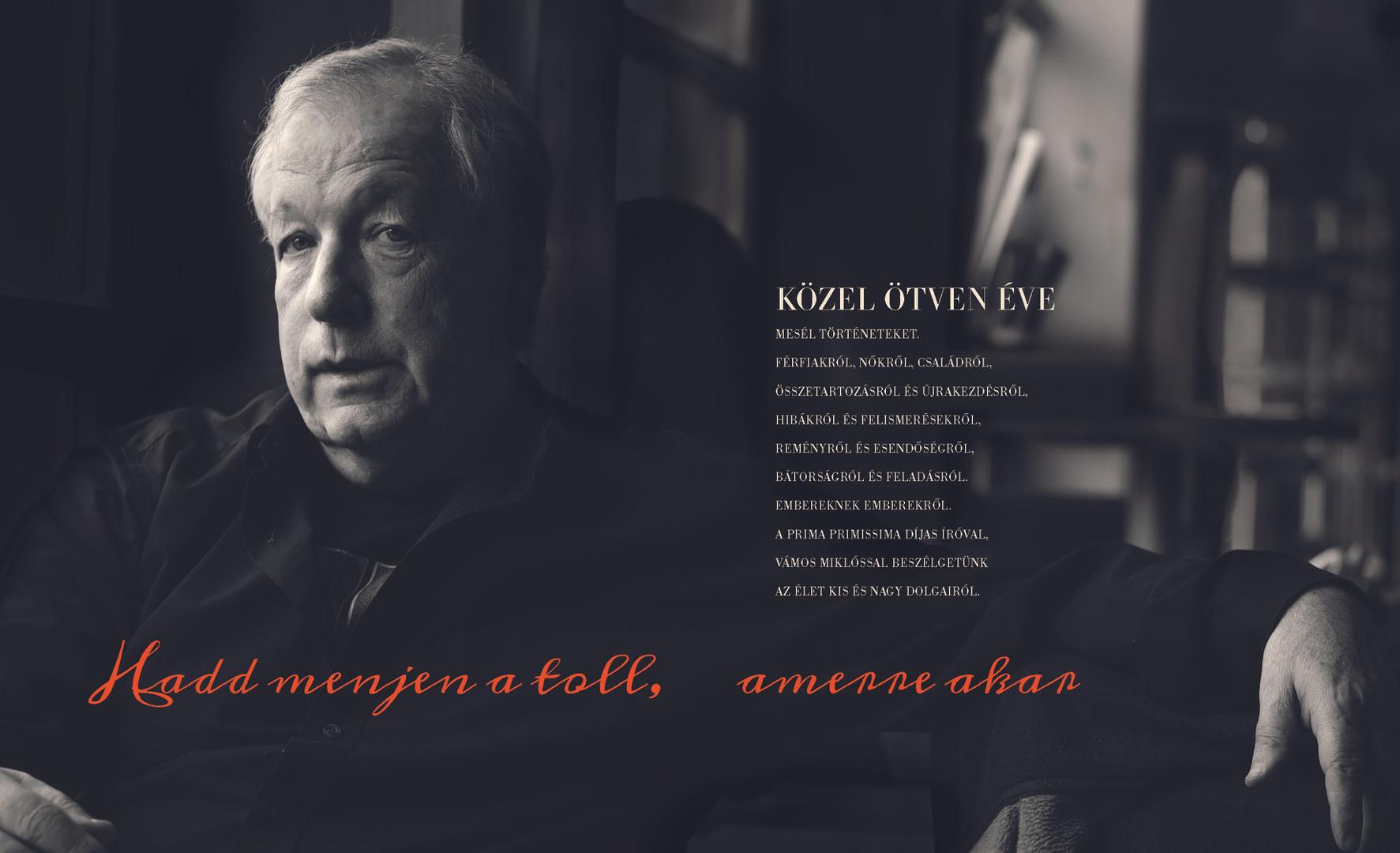 Miklós Vámos interview