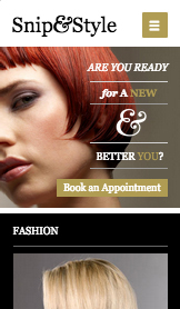Fashion & Beauty website templates – Hairdresser Site