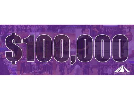SLBEF Milestone: $100,000